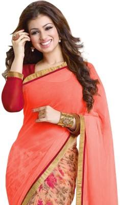 Sarovar Sarees Self Design, Geometric Print, Plain, Floral Print, Striped, Printed Fashion Georgette Sari