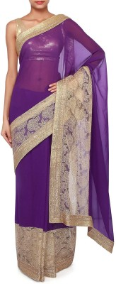 Kalki Self Design Fashion Handloom Georgette Sari