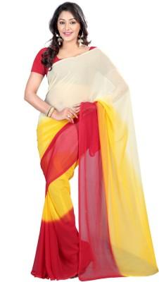 Shagun Prints Solid Bollywood Chiffon Sari