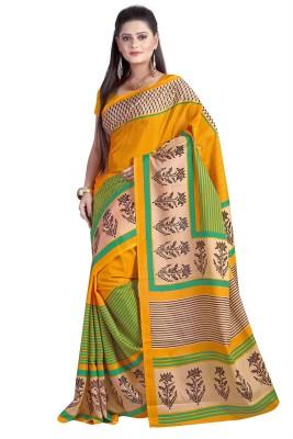 MAA CREATION Solid Fashion Silk Sari
