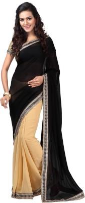 Idecore Self Design Bollywood Georgette Sari