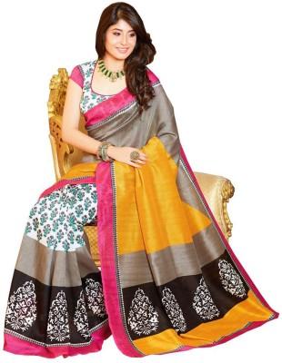 Z HOT FASHION Printed Bhagalpuri Silk Sari