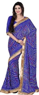 Budget Vastra Floral Print Fashion Chiffon Sari