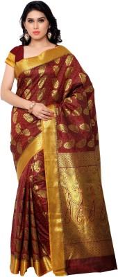 Varkala Silk Sarees Woven Kanjivaram Art Silk, Jacquard Sari