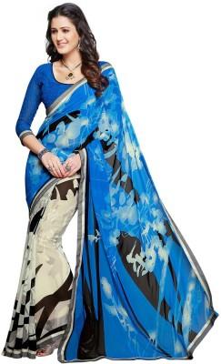 Salwar Studio Self Design, Printed Daily Wear Synthetic Georgette Sari