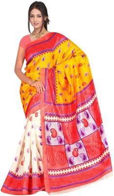 Shristy Fashion Printed Bhagalpuri Pure Crepe Sari