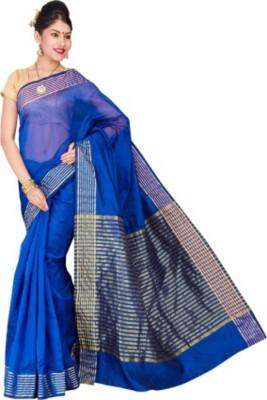 Aratigarments Striped Banarasi Banarasi Silk Sari