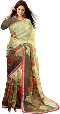 Mahi Fashion Printed Bollywood Georgette Sari
