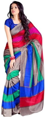 Styllaz Striped Bhagalpuri Art Silk Sari