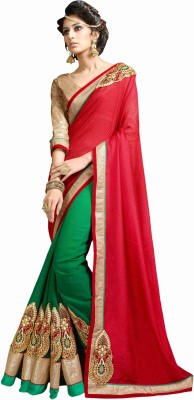 Dilwaa Self Design, Embriodered, Embellished Fashion Jacquard, Georgette Sari