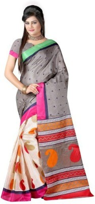 PINK SISLY Harringbone Daily Wear Georgette Sari