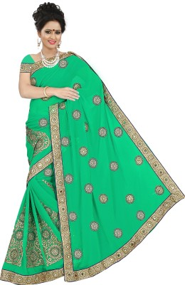 BD SALWARS Embriodered Fashion Chiffon Sari