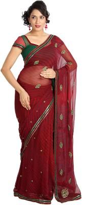 Vandanaraj Striped Bandhani Chiffon Sari