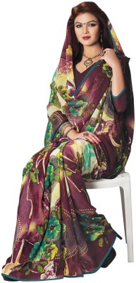 Vastrani Floral Print Fashion Georgette Sari