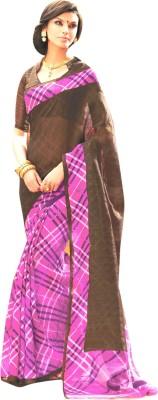 Crafts N Culture Printed Fashion Banarasi Silk Sari