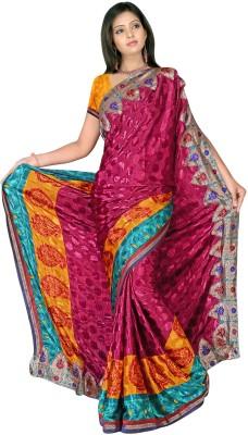 MGS Printed Fashion Jacquard Sari