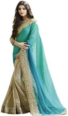 T Zone Fashion Embriodered Fashion Georgette Sari