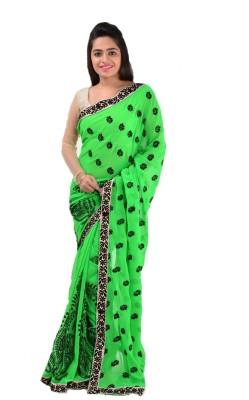 Muskan Floral Print Bollywood Handloom Chiffon Sari