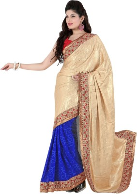 Varnilifestyle Embriodered Fashion Crepe, Brasso Sari