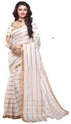 VINCITORE Plain Fashion Georgette Sari