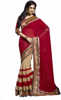KRUPALI FASHION Self Design Bollywood Pure Chiffon Sari