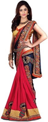 Vivels Solid Fashion Georgette Sari