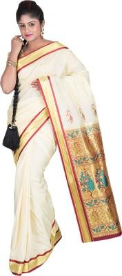 F3 Apparels Animal Print Kanjivaram Art Silk Sari