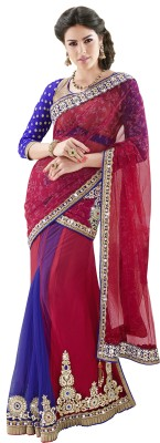 Moh Manthan Self Design Fashion Net, Satin Sari(Multicolor) at flipkart