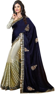 Surya Embriodered Daily Wear Velvet Sari