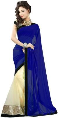 Renuja Plain Fashion Polycotton Sari