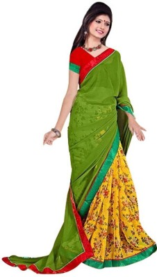 Generation Touch Printed Daily Wear Synthetic Georgette Sari
