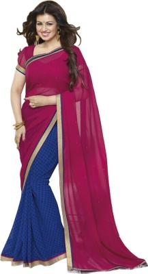 A1V Enterprise Printed Bollywood Chiffon Sari