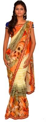Jagadamba Printed Bollywood Chiffon Sari