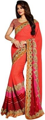 SAHAJ Embellished Rajshahi Pure Georgette Sari