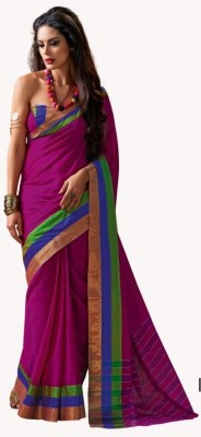 Eella Collections Embriodered Paithani Cotton Sari