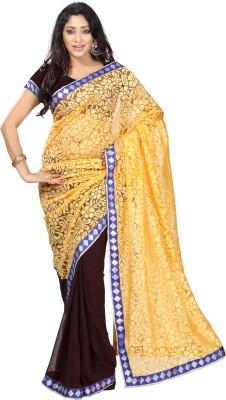 Kalash Sarees Self Design Bollywood Chiffon Sari