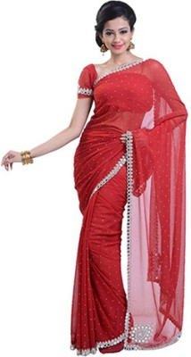 Romanshopping Embriodered That Synthetic Fabric Sari