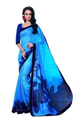 SASURAL Digital Prints Fashion Silk Cotton Blend Sari