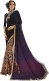 freshboss Plain Fashion Chiffon Sari