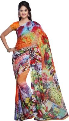Chandra Silk Mills Printed Fashion Art Silk Sari