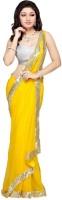 Melluha Printed Bollywood Georgette Sari(Yellow)