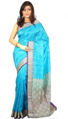 Womilo Woven Banarasi Silk Sari