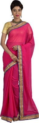 Manisha Designer Self Design Fashion Georgette Sari
