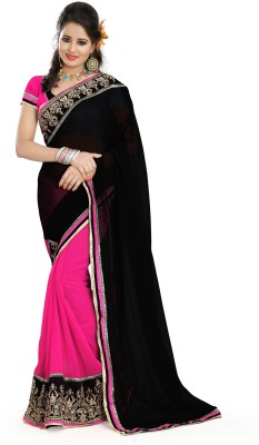 Parv Collections Solid Fashion Georgette Sari