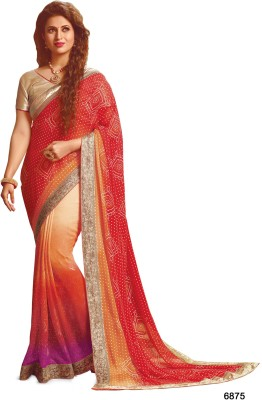 Sarees House Self Design, Printed Bollywood Georgette Sari