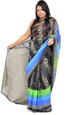 Gulmohaar Printed, Geometric Print Bhagalpuri Silk Sari