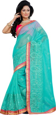 Prafful Floral Print Fashion Net Sari