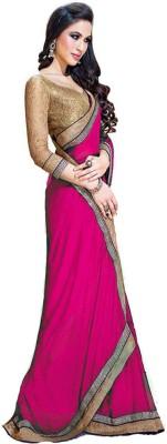 Trusha Dresses Plain Fashion Chiffon Sari