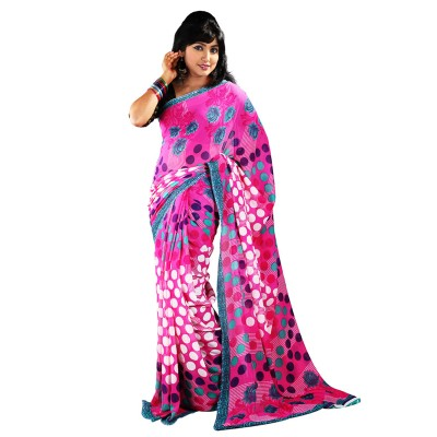 Hawai Printed Fashion Chiffon Sari