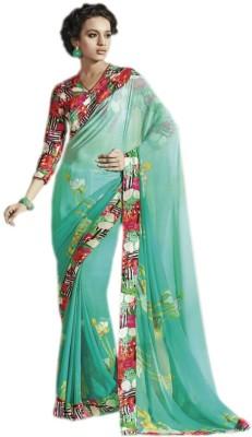 KL COLLECTION Floral Print Fashion Georgette Sari